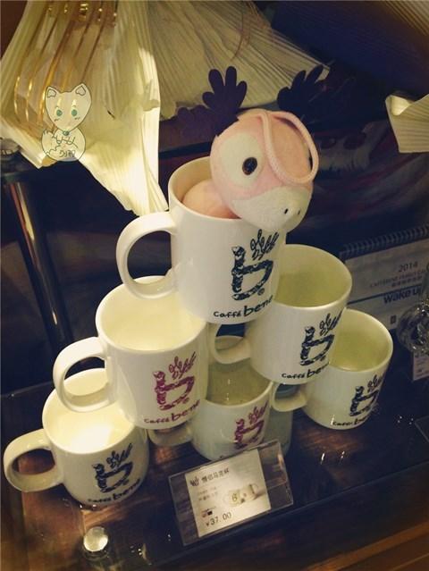 大鸟吉祥物的咖啡陪你