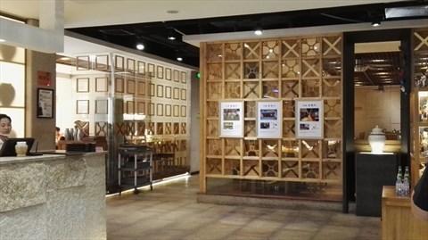 餐厅包厢墙面手绘图片